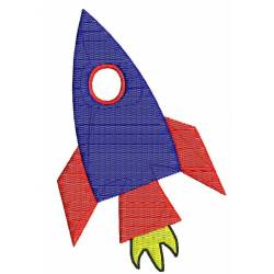 Space Rocket Embroidery Design