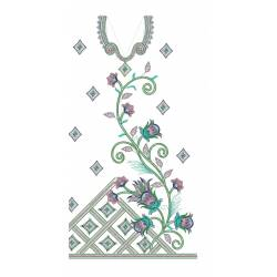 large Hoops Full Embroidery Dress Design