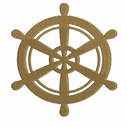 Ship's Wheel Nautical Embroidery design