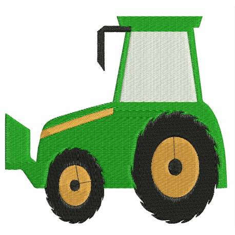 Bull Dozer Construction Vehicle Embroidery Design