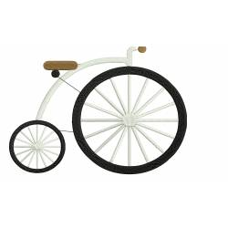 Bicycle Embroidery Design