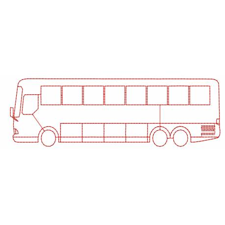 Outline Bus Embroidery Design