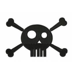 Skull Embroidery Design