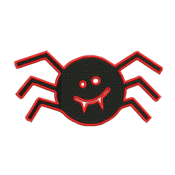 Monster Spider Embroidery Design