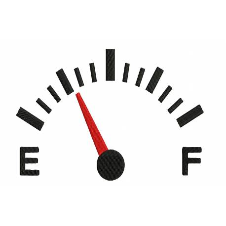 Car Fuel Meter Embroidery Design