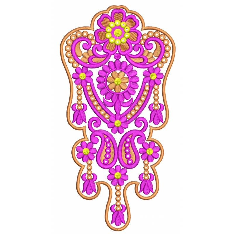 Indian butta embroidery design