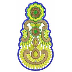 New Indian Butta Embroidery Design 5x7