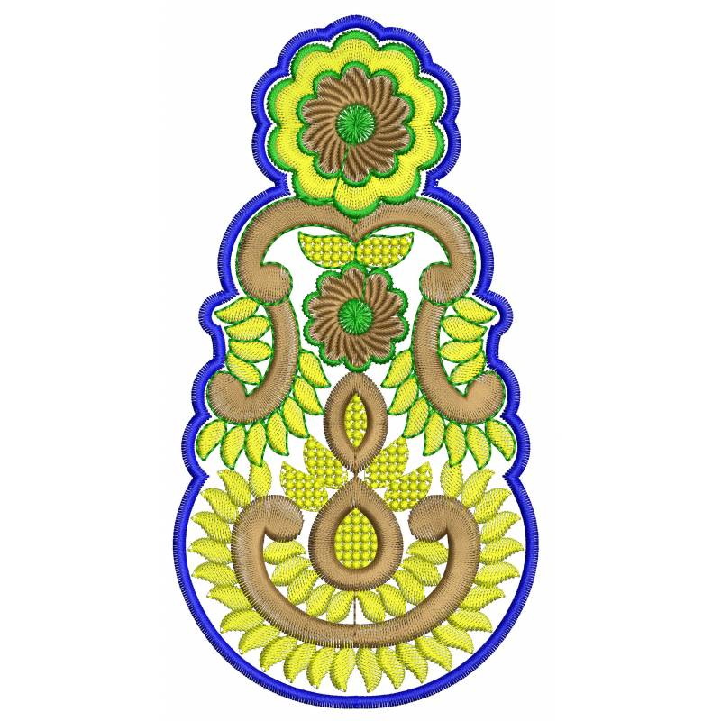 New indian butta embroidery design