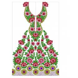 New Indian Embroidery Suit Floral Designs 2