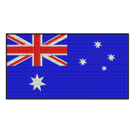 Australia Flag Embroidery Design