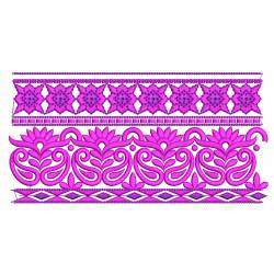 Floral Neckline and Border Embroidery Design