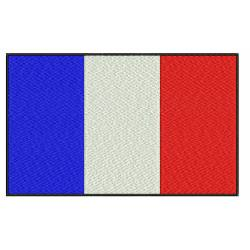France Flag Emboridery Design