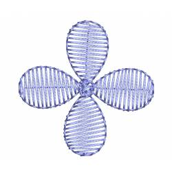 2x2 small flower embroidery design