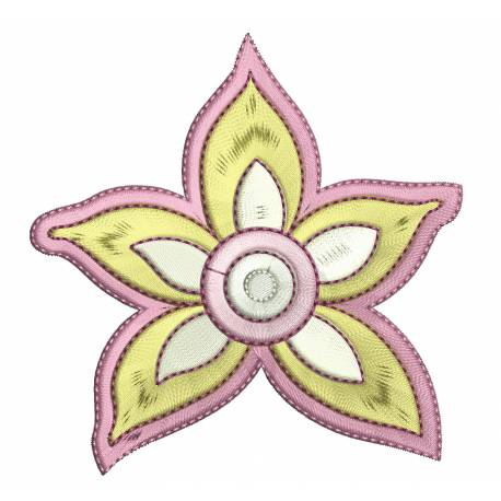 Abstract Funky Embroidery Flower Design