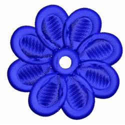2x2 Blue Flower Embroidery Design