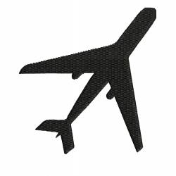 Silhouette Airplane Embroidery Design