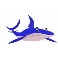 Blue Whale Embroidery Design