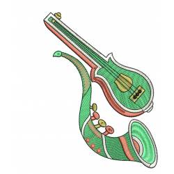 Music Instrument Embroidery Design