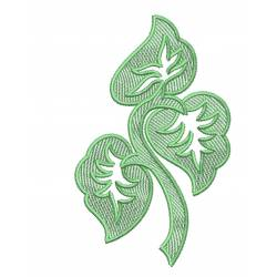 Abstract Leaf Embroidery Design