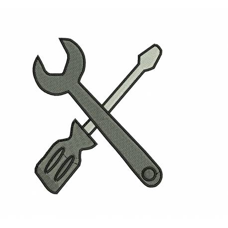 Tools Embroidery Design
