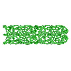 Green Embrodiery Border Design 2