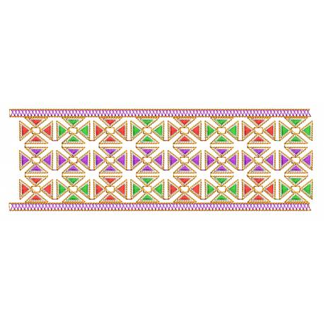 Colorful Embroidery Border Design