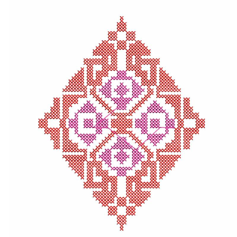 Cross Stitches Embroidery Design