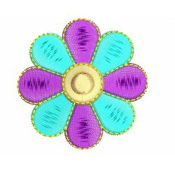 2x2 Multi Color Flower Embroidery Design