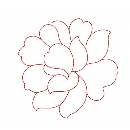 Outline Flower Embroidery Design