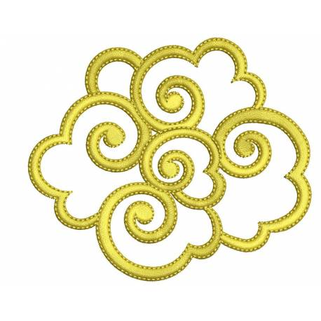 Abstract Machine Embroidery Design