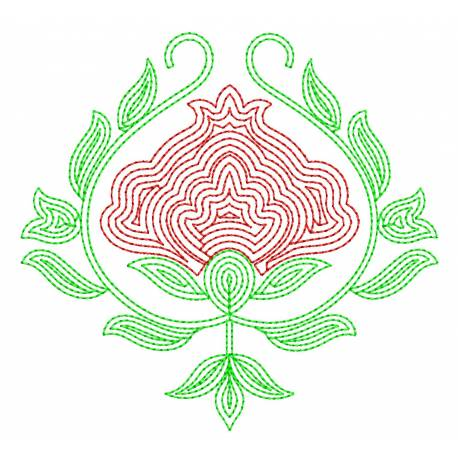 Outline Flower Butta Embroidery design