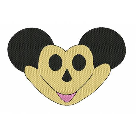 Funny Cartoon Face Embroidery Design