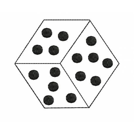 Simple Dice Embroidery Design