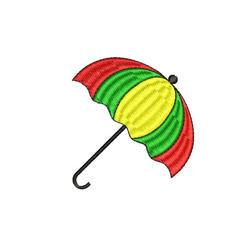umbrella machine embroidery design
