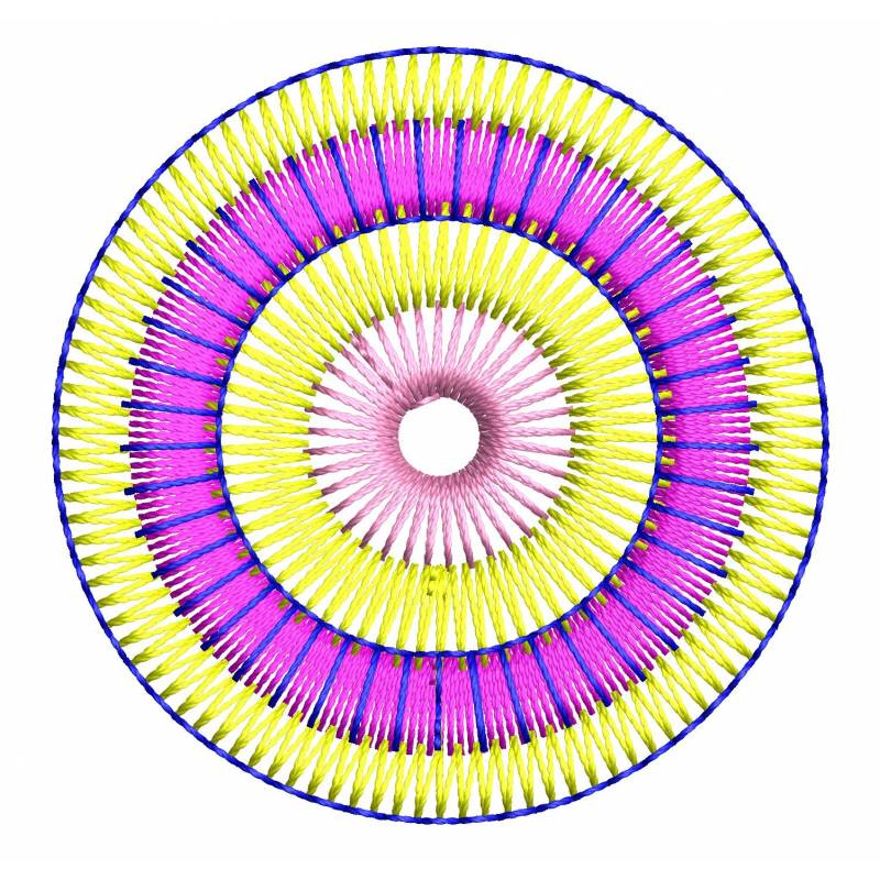 Circle Embroidery Design 2x2