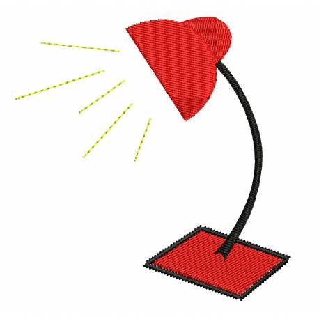Study Lamp Embroidery Design