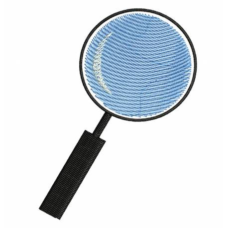 Magnifying Glass Embroidery Design