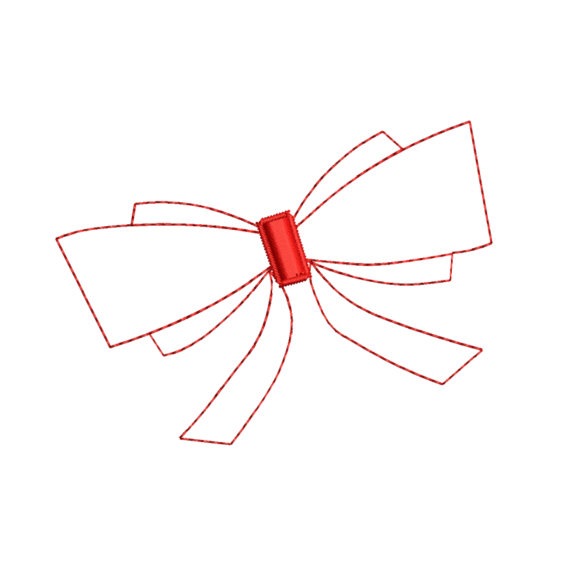 Bow Tie Outline Embroidery Design