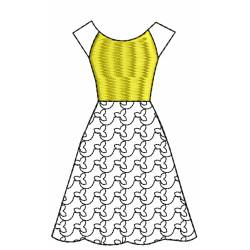 Embroidery Dress Outline Design