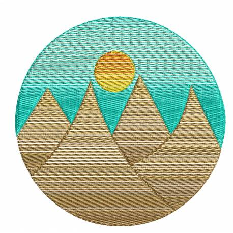 Natural Scene Mountain View Embroidery Design