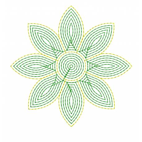 Motif Filled Flower Embroidery Design