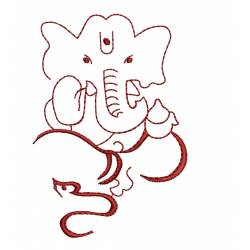 Ganesha Embroidery Design Freebie
