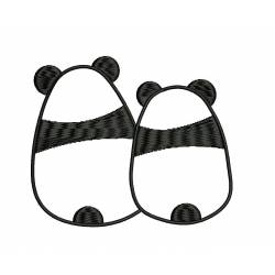 Love Panda Embroidery Design