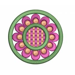 Circle Floral Embroidery Design