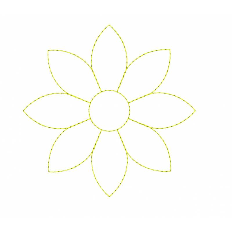 Simple Flower Outline Embroidery Designs