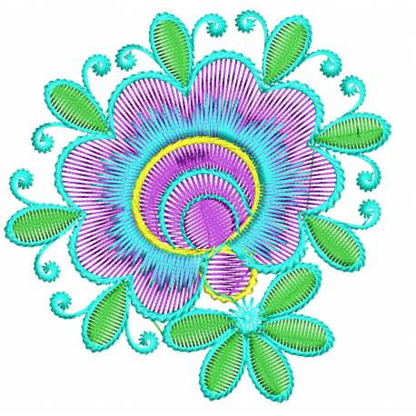 Beautiful Floral Embroidery Design
