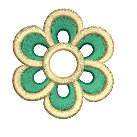 Funky Flower Embroidery Design