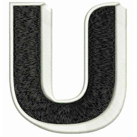 Jumbo Filled Alphabet U