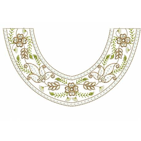 Small Neckline Embroidery Design