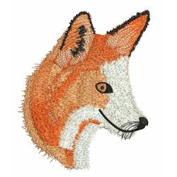 Realistic Fox Machine Embroidery Design